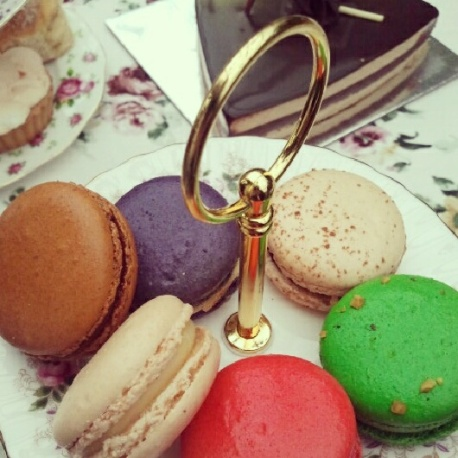 Brightly coloured Macarons and other goodies