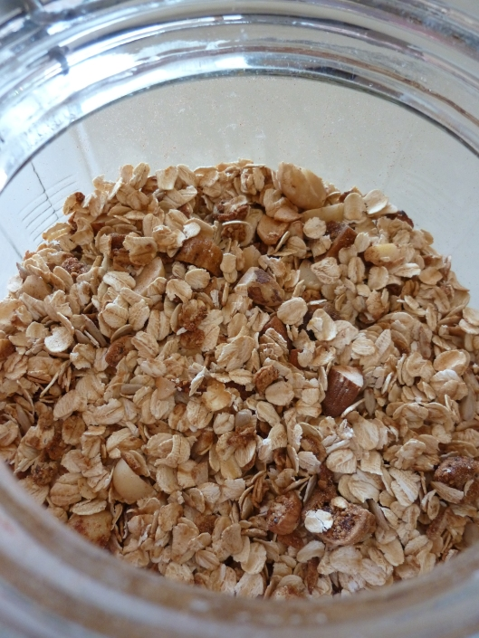 Home made toasted muesli with roasted wattle seeds