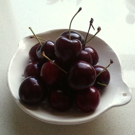 Cherries and Colander
